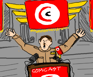Comcast is equal to Hitler