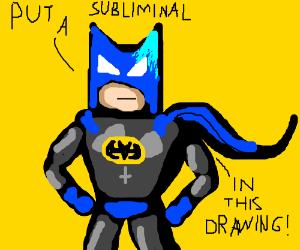 Batman requests art with a subliminal D