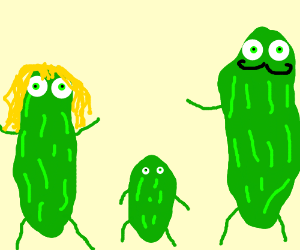 A family of pickles (why all the pickles? :P)