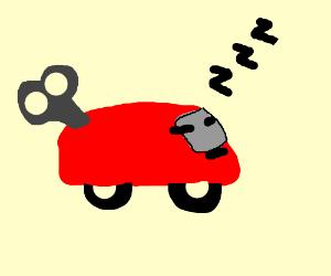 Sleeping toy car
