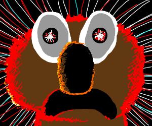 Elmo crosses the event horizon.