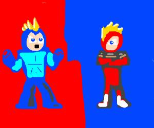 Megaman and Zero go Super Saiyan