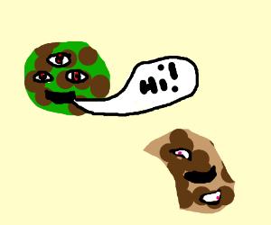 aliencookie talking to mutantcookie.