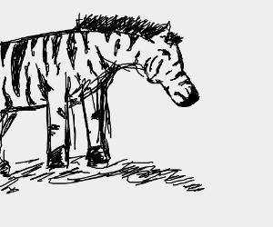 sad zebra