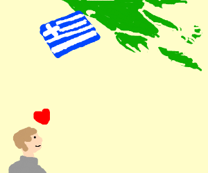 Man loves Greece from a distance
