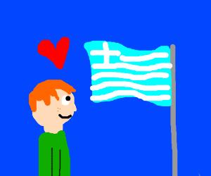 Ginger Loves The Greek Flag