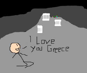 Man confesses his love for nation of Greece.