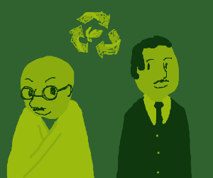 Gandhi and MLKJ. are going green