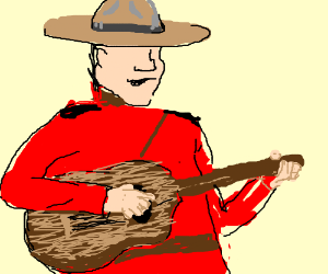 canadian police playing guitar