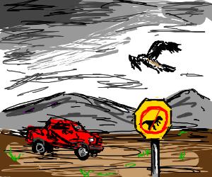 """""""no raptors"""" sign is useless against raptors"""