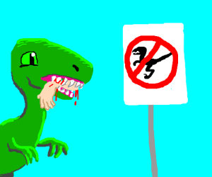 velociraptor strikes by Velociraptor free zone