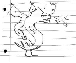 Trogdorrrrr (on lined paper)