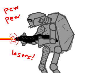AT's from Star Wars firing lasers. Pew pew pew