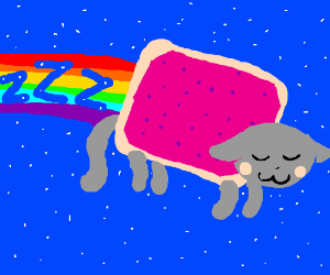 Nyan cats need to sleep, too