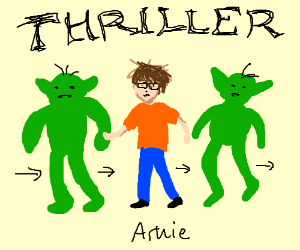 arnie and the goblins perform thriller