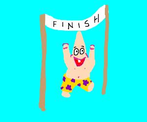 Patrick runs the Boston Marathon