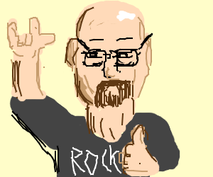 Walter White is ready to rock!