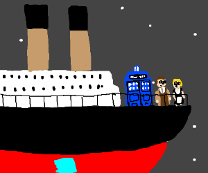 The Doctor was on the Titanic!