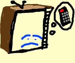 Sad television