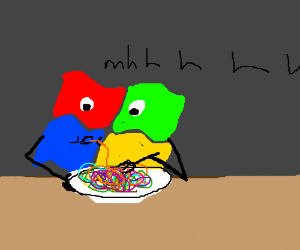 Windows likes his multicolored spaghetti