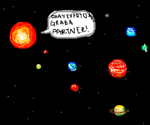 Sun tells the planets to grab a partner planet