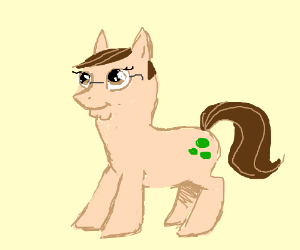 Peter Griffin as a my little pony
