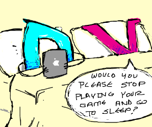 D plays drawception on a tablet device