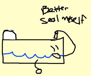 Water bed seeling it self