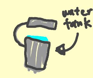 Tank of water seals itself