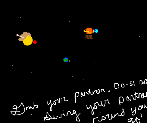 Solar system about to do a barn dance