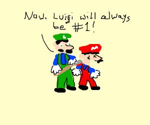 Luigi kills Mario with an axe