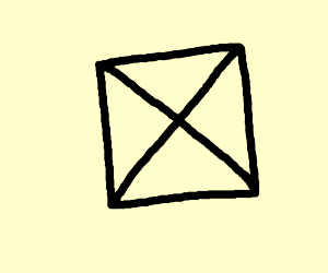 square with each corner joined