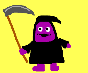 The Grimace Reaper!