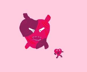 Cannibal heart craves hearts to eat
