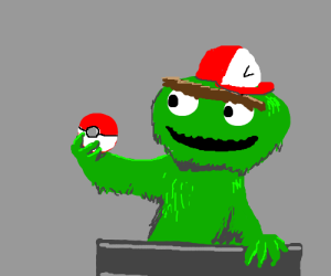 Oscar the Grouch is a Pokemon trainer.