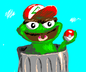 Oscar the Grouch is gonna catch 'em all!