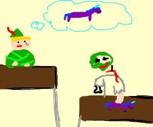 link wants zombies unicorn toy