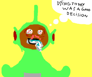 Dipsy the teletubbie decides to die.