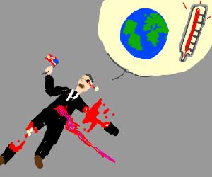 Al Gore talks about global warming