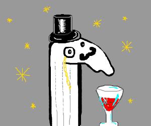 Fancy sock puppet