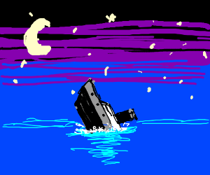 Ship sinks at night for no apparent reason