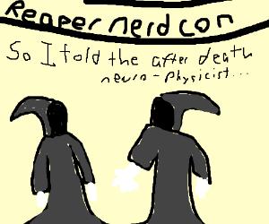 Grim reaper nerd convention