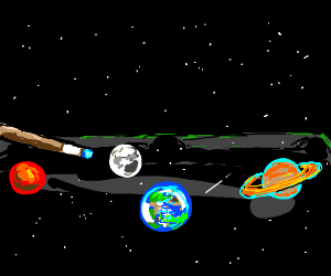 Playing pool with planets