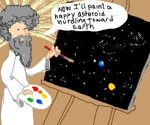 What if the universe is just a painting?