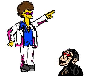 Disco Stu and a loving chimp