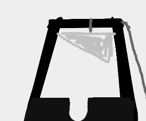 Guillotine, well drawn