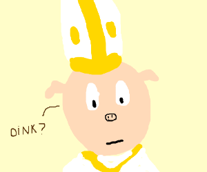 The new pope is a pig?