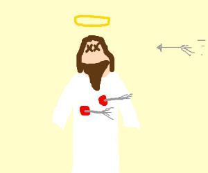 Jesus gettin shot with arrows