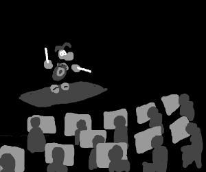 Rayman conducts philharmonic orchestra