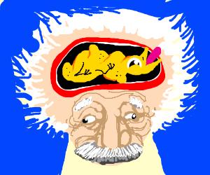 Einstein's mind is a sitting duck
